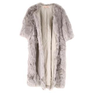 Marni Soft Grey Alpaca Fur Coat