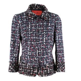 Carolina Herrera Cotton Tweed Blazer