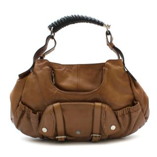 YSL Rive Gauche Vintage Brown Leather Handbag