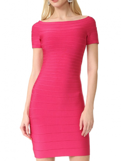 Herve Leger Pink Carmen Dress