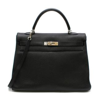 Hermes Togo Leather Black Kelly 35 PHW