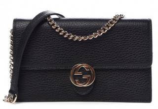 Gucci Dollar Calfskin Interlocking G Chain Wallet