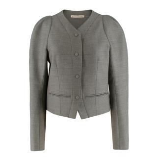 Balenciaga Puff Shoulder Classic Tailored Jacket