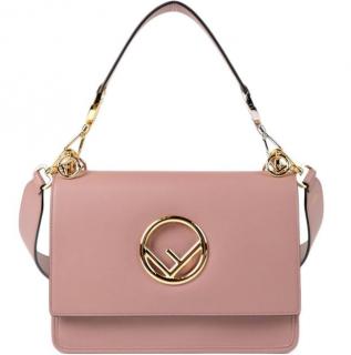 Fendi English Rose Kan I Logo Shoulder Bag