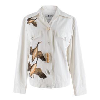 Loewe White Geese Print Jacket