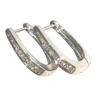 Bespoke 0.25ct Diamond Hoop Earrings