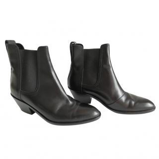Rag and Bone black leather Chelsea Boots