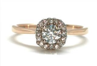 Cred diamond halo ring