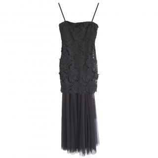 Vera Wang Dress black scrappy cocktail dress