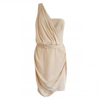 Zimmermann Draped One-Shoulder Mini Dress