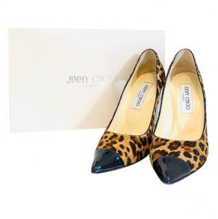 Jimmy Choo Archer Leopard Print Pony Hair Pumps