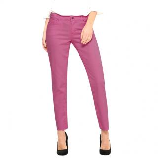 Karl Lagerfeld pink stretch jeans