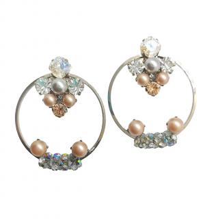 Vicki Sarge Crystal Embellished Hoop Earrings