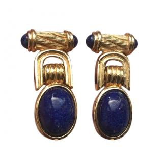 Christian Dior Gold Plated Couture Vintage Earrings