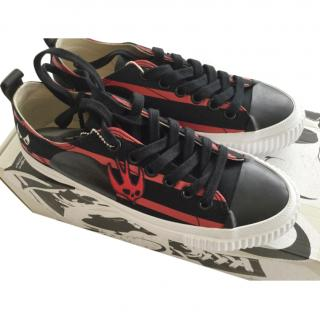 McQ by Alexander McQueen Red & Black Low Top Sneakers