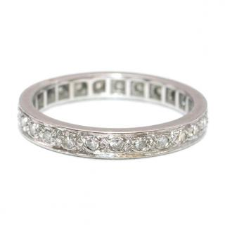 Bespoke White Gold Pave Diamond Eternity Ring