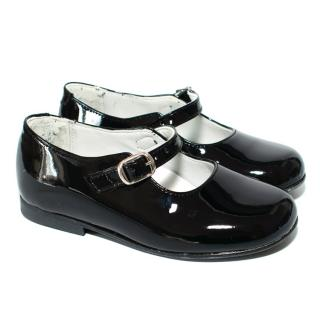 La Coquela Black Patent Mary Jane Childrens Shoes