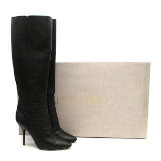 Jimmy Choo Stiletto Calfskin Knee Boots