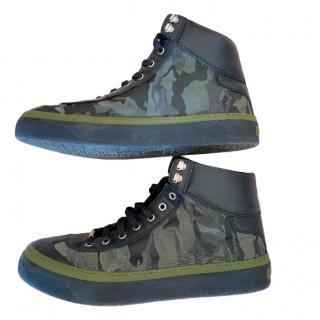 Jimmy Choo Camo Print High Top Sneakers