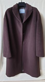 Prada Single Breasted Cashmere & Wool Coat
