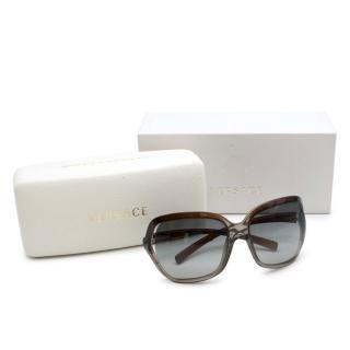 Versace Tortoiseshell Oversize Sunglasses