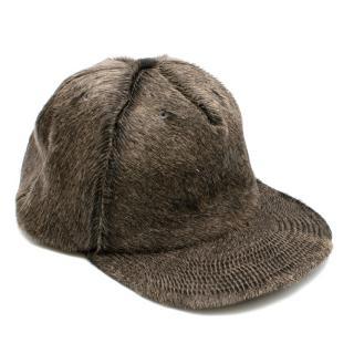 Golden Goose Pony Hair Trucker Hat