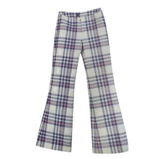 Moncler Houndstooth Wide Leg Ski Pants