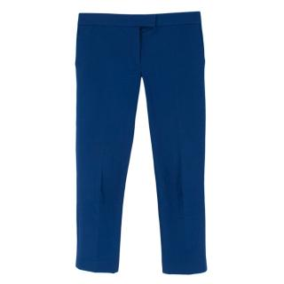 Joseph Royal Blue Low Rise Tailored Trousers
