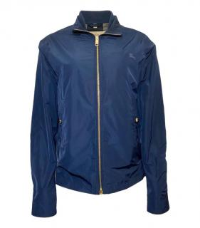 Burberry London navy blue bomber jacket