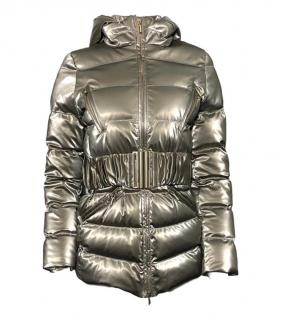 Blumarine champagne goose down coat/jacket