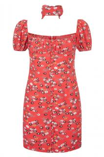 Rat and Boa Red Floral Bambi Dress
