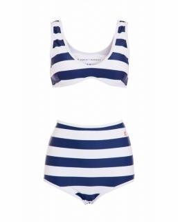 Perfect Moment Striped High Waist Bikini