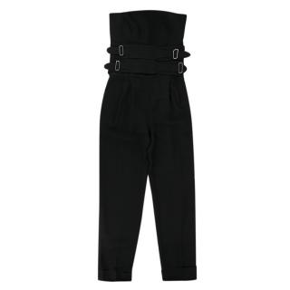 Bianca Spender Black Sleeveless Jumpsuit