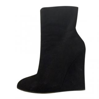 Giuseppe Zanotti Black Wedge Boots