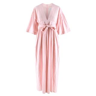 Seraphina Pale Pink Midi Dress