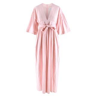 Seraphina Pale Pink Midi Dress