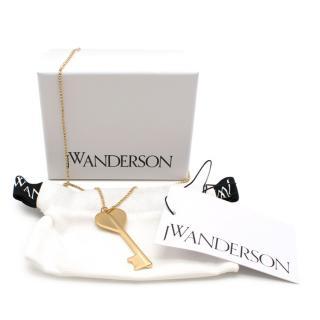 JW Anderson Gold Key Pendant Necklace