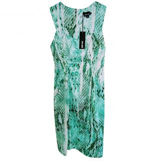 Just Cavalli Snake Print Green Dress