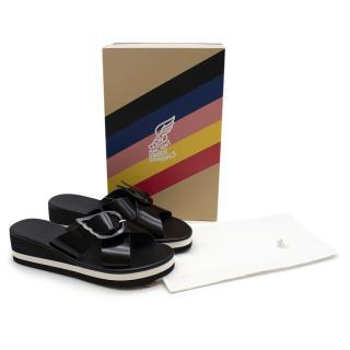 Ancient Greek Sandals Black Winged Sandals
