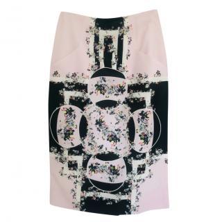 Erdem Garden Print Silk Skirt