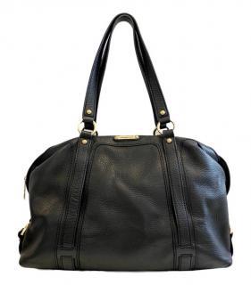 Michael Michael Kors Black Leather Grained Tote Bag
