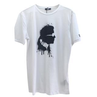 Karl Lagerfeld White Karl Spray paint T-shirt