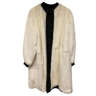 Yves Salomon Reversible Longline Mink Coat