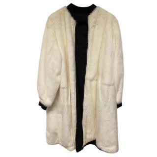 Yves Salomon Reversible Longline Mink Coat