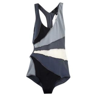 Isabel Marant Grey Colourblock Swimsuit