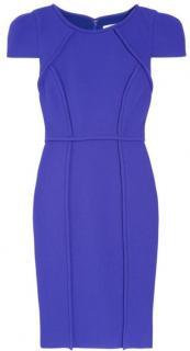 Tibi Wool Violet Crepe Dress