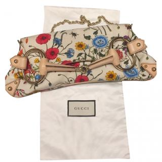 Gucci Blooms Floral Canvas Pouch on Chain