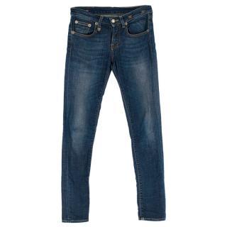 R13 Blue Low Rise Jeans
