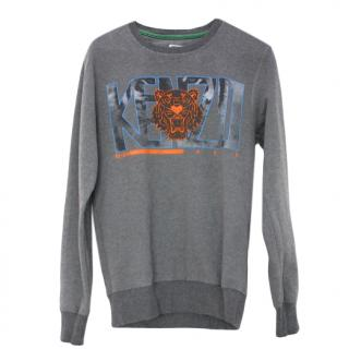 Kenzo Grey Tiger Patch Logo Sweatshirt