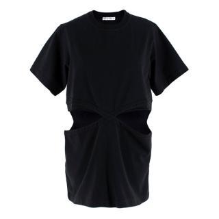 JW Anderson Black Cut-Out T-shirt